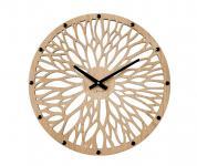 Wanduhr Holzuhr modernes Design Uhr 49 cm