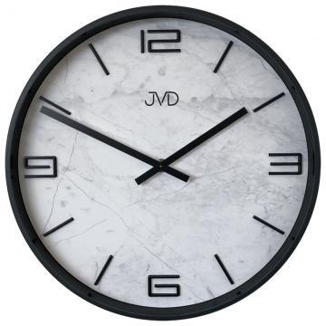 Wanduhr marmoriert - schwarz 30 cm