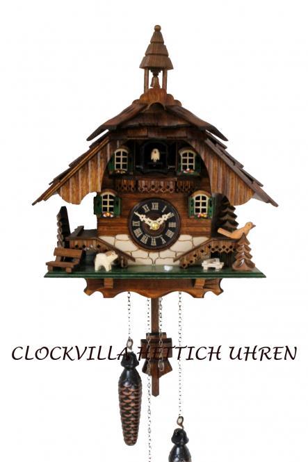 Kuckucksuhr Schwarzwaldhaus mit Glockenturm