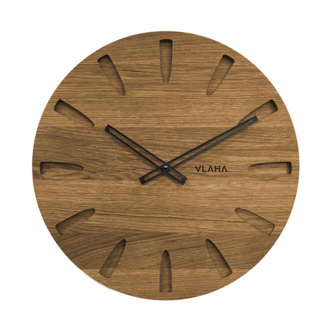 Im Uhrenshop Große Wanduhr Holzuhr 45 cm Eiche