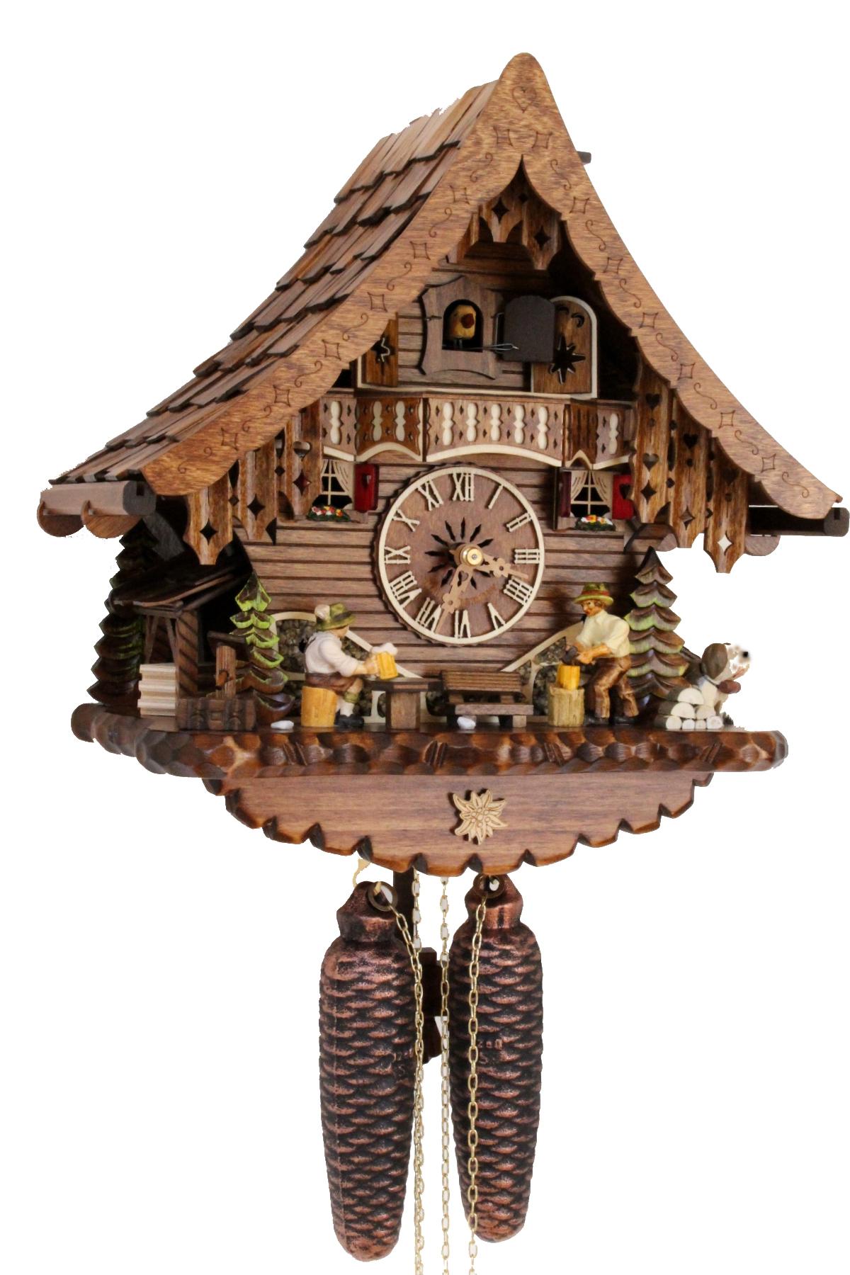 Im Uhrenshop | Original Schwarzwälder Kuckucksuhr 8 Tage ...